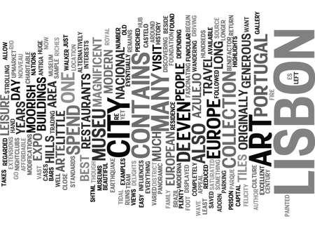 felicity: LISBON THE FORGOTTEN GEM OF EUROPE Text Background Word Cloud Concept