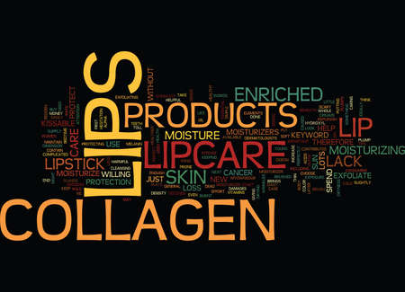 LIPCARE COLLAGEN Text Background Word Cloud Concept 向量圖像
