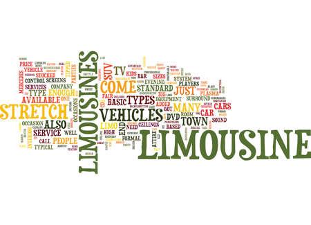LIMOUSINE SERVICES Text Background Word Cloud Concept