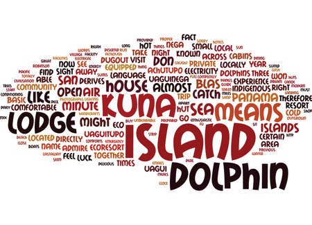 THE DOLPHIN LODGE SAN BLAS ISLANDS PANAMA Text Background Word Cloud Concept