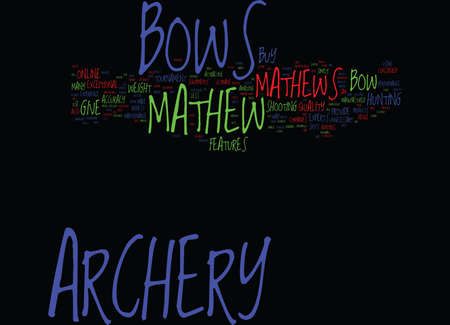 MATHEWS ARCHERY Text Background Word Cloud Concept