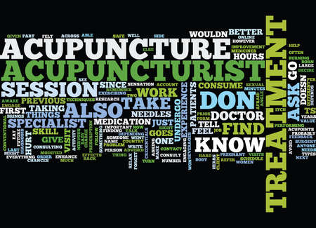 dos: THE DOS AND DONTS OF ACUPUNCTURE Text Background Word Cloud Concept