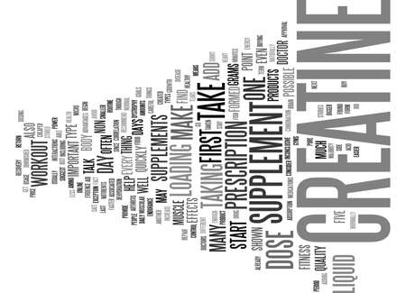 LIQUID CREATINE ONE FORM OF CREATINE YOU CAN TAKE Text Background Word Cloud Concept