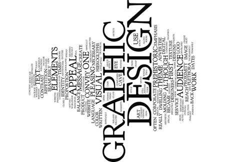 THE CURRENT STATE OF THE GRAPHIC DESIGN INDUSTRY Text Background Word Cloud Concept