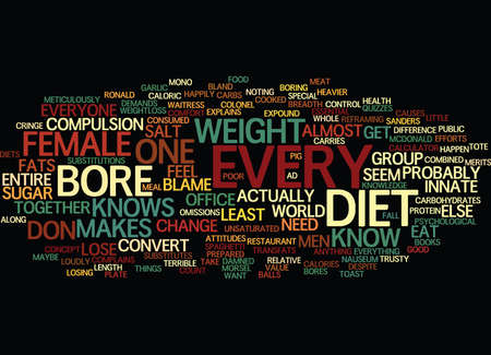 THE DIET BORE Text Background Word Cloud Concept Иллюстрация