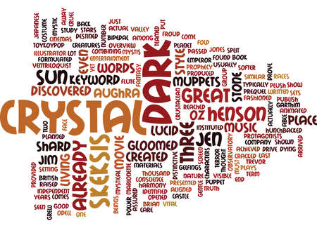 THE DARK CRYSTAL Text Background Word Cloud Concept 向量圖像