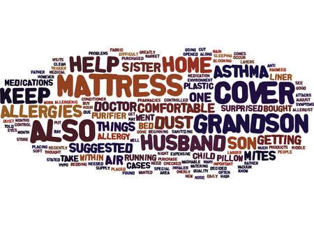 MATTRESS COVER Text Background Word Cloud Concept Иллюстрация