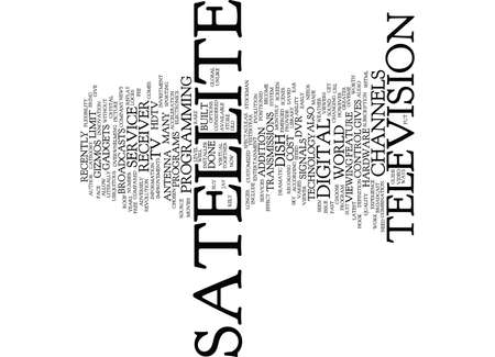 THE DISH ON SATELLITE TV Text Background Word Cloud Concept Illustration
