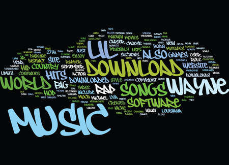 LIL WAYNES MUSIC Text Background Word Cloud Concept