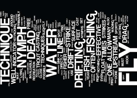 THE DEAD DRIFT Text Background Word Cloud Concept