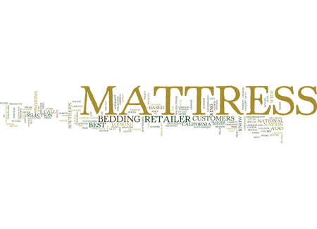 MATTRESS Text Background Word Cloud Concept