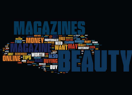 BEAUTY MAKE UP Text Background Word Cloud Concept Illustration