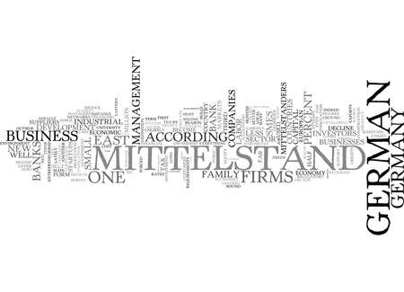 THE DEMISE OF THE MITTELSTAND Text Background Word Cloud Concept