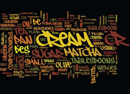 MATCHA CREPE Text Background Word Cloud Concept Ilustração