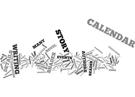 THE DETAILS ARE IN THE CALENDAR Text Background Word Cloud Concept
