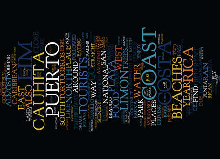 LIMON COSTA RICA Text Background Word Cloud Concept