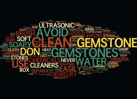 negatively: LIST OF GEMSTONES Text Background Word Cloud Concept Illustration