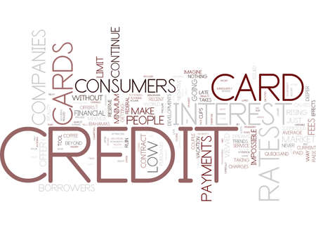 THE COURSE OF THE CREDIT CARDS WHAT CAN PEOPLE DO Text Background Word Cloud Concept
