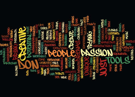 THE CREATIVE YOU Text Background Word Cloud Concept
