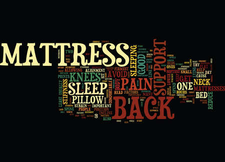 MATTRESS AND BACK SUPPORT Text Background Word Cloud Concept Stock fotó - 82720866