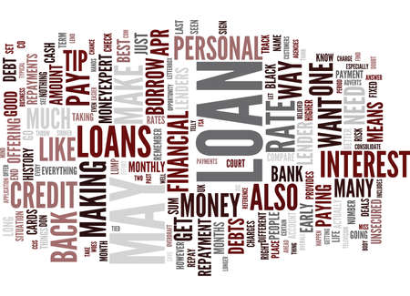THE DEFAQTO GUIDE TO LOANS Text Background Word Cloud Concept Illustration