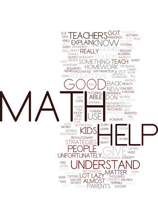 MATH HELP Text Background Word Cloud Concept