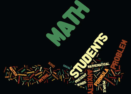 MATHEMATICAL MYTHS Text Background Word Cloud Concept