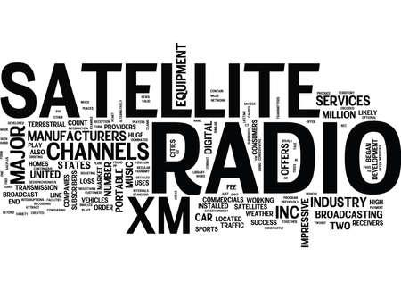Le développement de la radio satellite dans le mot de fond de nuages ? ? de mot de nouvelles Banque d'images - 82681726