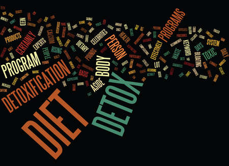 THE DETOX DIET Text Background Word Cloud Concept