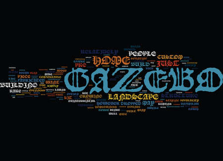 THE CRAZY GAZEBO Text Background Word Cloud Concept