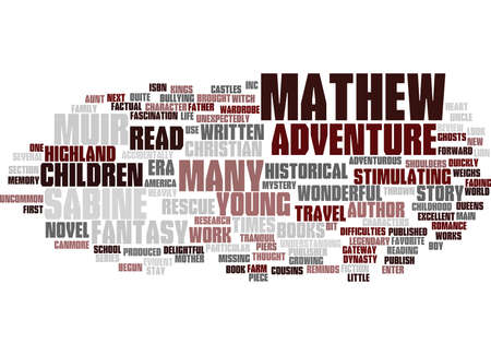 MATHEW AND THE HIGHLAND RESCUE BOOK REVIEW Text Background Word Cloud Concept