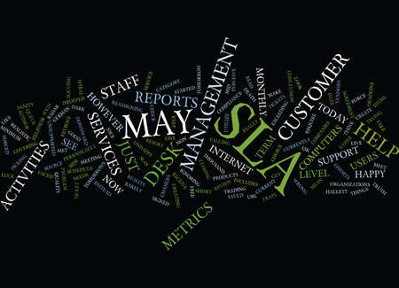THE DARK SIDE OF HELP DESK SLAS Text Background Word Cloud Concept
