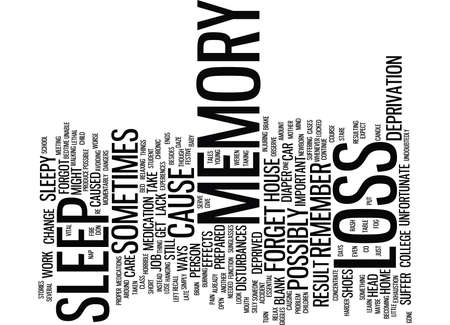 THE DANGERS OF MEMORY LOSS Text Background Word Cloud Concept