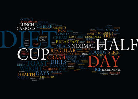 THE DAY DIET Text Background Word Cloud Concept Vector Illustration