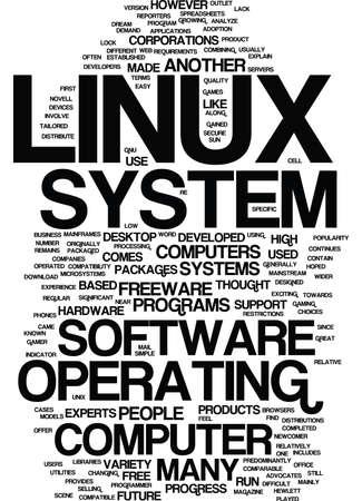 LINUX Text Background Word Cloud Concept