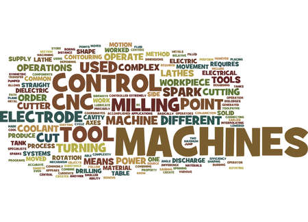 THE DIFFERENT CNC MACHINES Text Background Word Cloud Concept