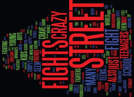 EL CRAVE PARA CRAZY STREET LUCHA POR ADOLESCENTES Fondo de texto Word Cloud Concepto Foto de archivo - 82679858