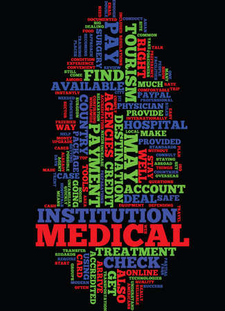 MEDICAL TOURISM FAQS Text Background Word Cloud Concept
