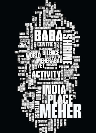 MEHER BAB Text Background Word Cloud Concept