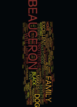 MEET THE BEAUCERON Text Background Word Cloud Concept