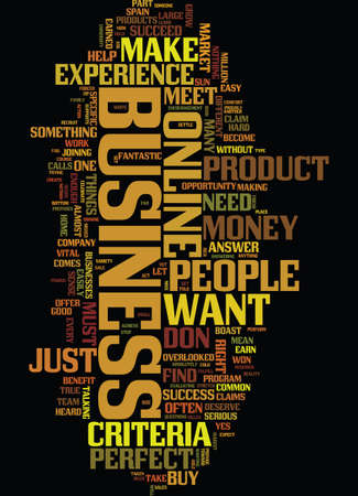 aligning: MEET THE PERFECT ONLINE BUSINESS Text Background Word Cloud Concept