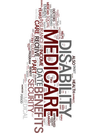 MEDICARE DISABILITY Text Background Word Cloud Concept