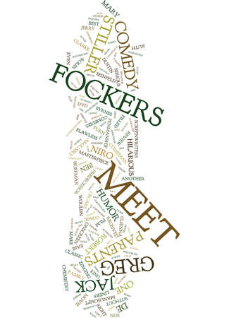 MEET THE FOCKERS DVD REVIEW Text Background Word Cloud Concept Ilustrace