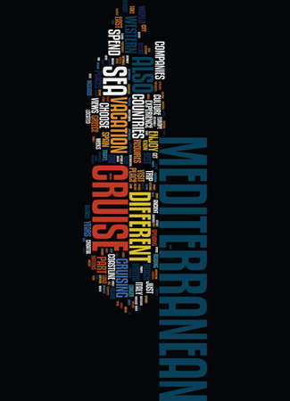 MEDITERRANEAN CRUISE Text Background Word Cloud Concept
