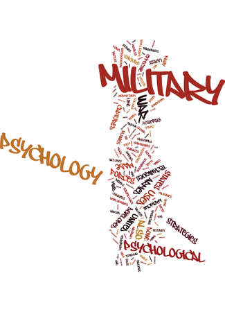 MILITARY PSYCHOLOGY THE LATEST DEVELOPMENTS Text Background Word Cloud Concept