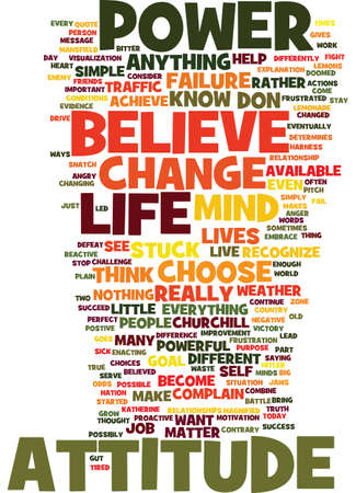MIND OVER MATTER YOU ARE WHAT YOU BELIEVE Text Background Word Cloud Concept Illustration