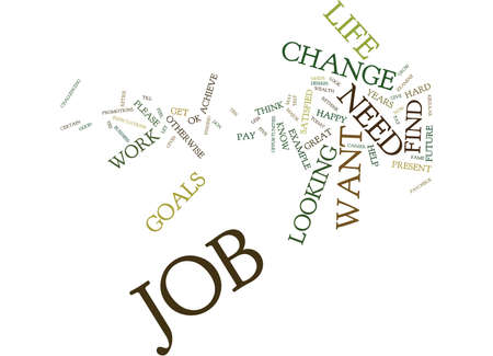 work less: TEST IF YOU NEED A CHANGE IN JOB Text Background Word Cloud Concept