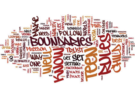 TEEN BOUNDARIES Text Background Word Cloud Concept