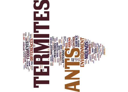 TERMITES AND ANTS Text Background Word Cloud Concept