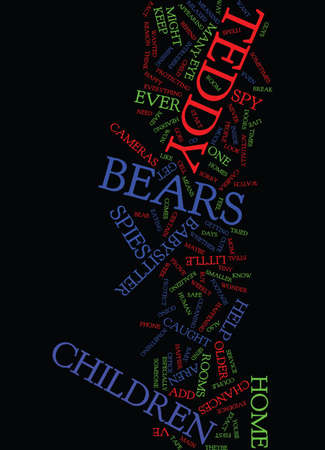 TEDDY BEARS AS SPIES Text Background Word Cloud Concept